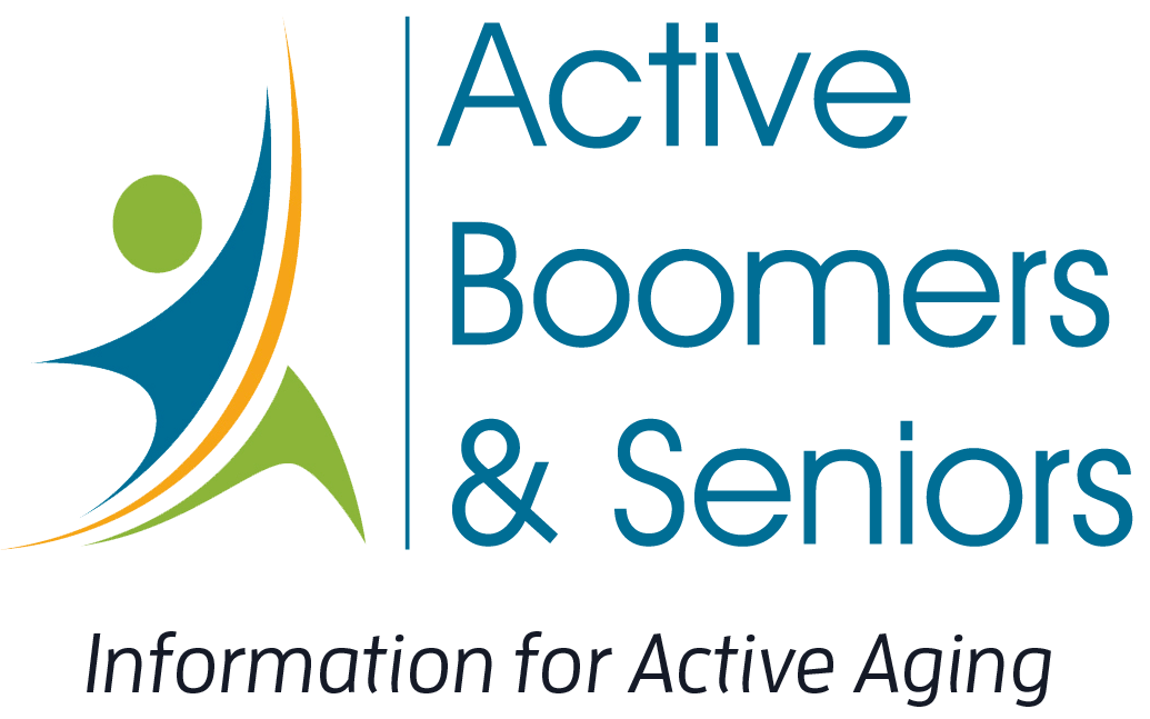 Active Boomers and Seniors logo with tagline