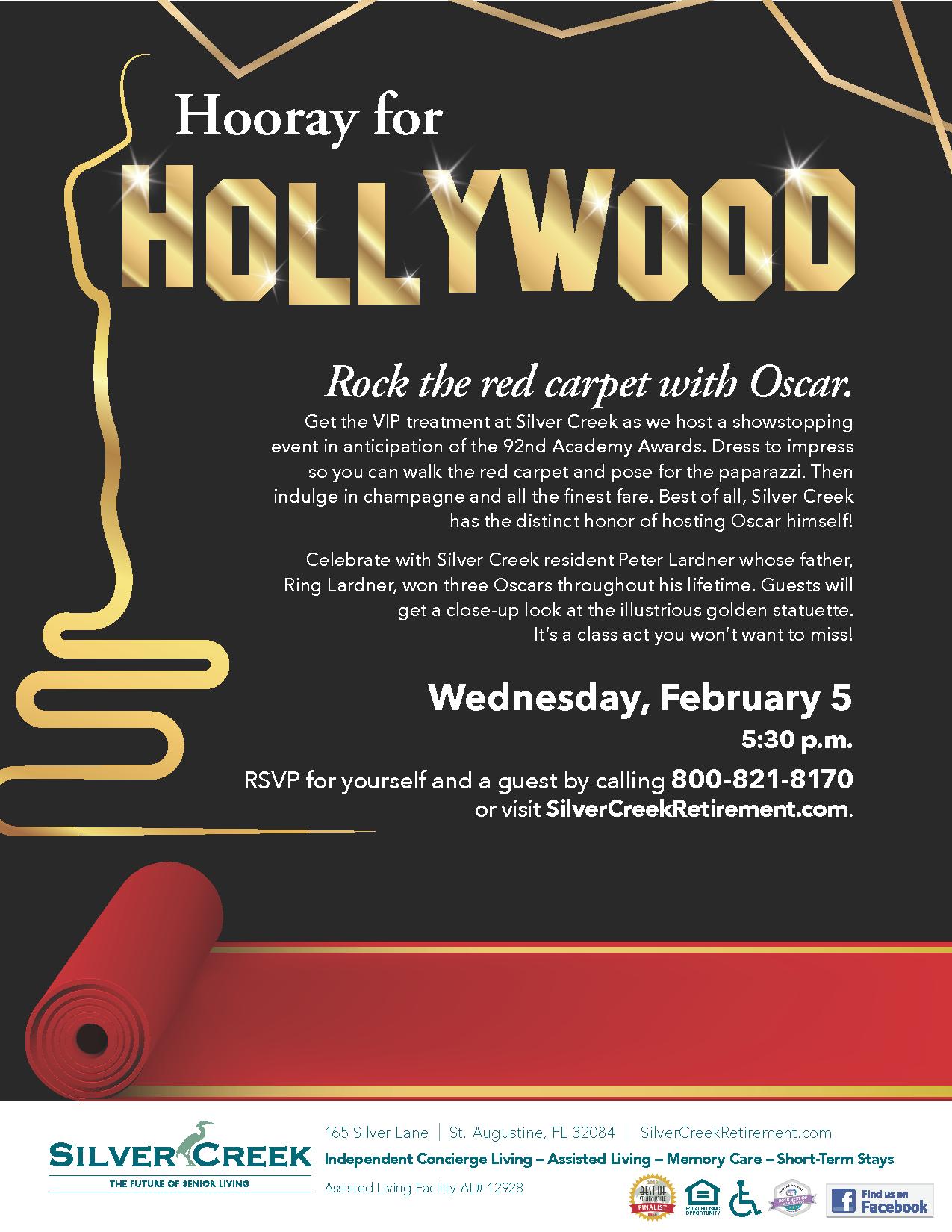 Silver Creek Oscar Party Flyer 2020